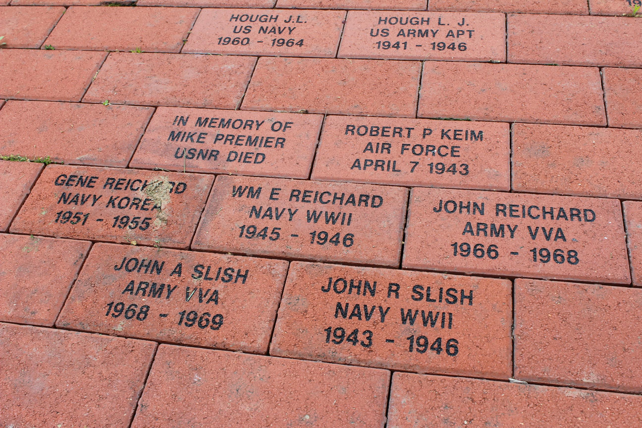 westbrook memorial bricks